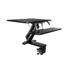 Height Adjustable Sit-to-Stand Small Workstation, Black
