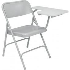 Grey Tablet  arm Premium Folding Chairs Carton of 2