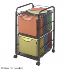 Onyx™ Mesh File Cart with 2 File Drawers