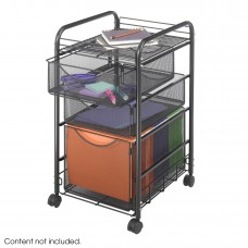Onyx™ Mesh File Cart with 1 File Drawer and 2 Small Drawers