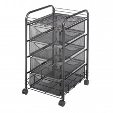 Onyx™ Mesh File Cart with 4 Drawers