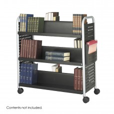 Scoot™ Double-Sided Book Cart - 6 Shelves