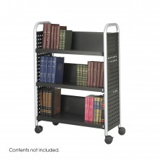 Scoot™ Single-Sided Book Cart - 3 Shelves