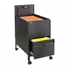 Locking Mobile Tub File with Drawer, Letter Size