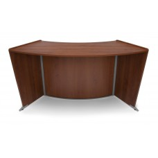 OFM Marque Series ADA / Wheelchair Accessible Curved Reception Station, Cherry