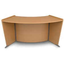 OFM Marque Series ADA / Wheelchair Accessible Curved Reception Station, Maple