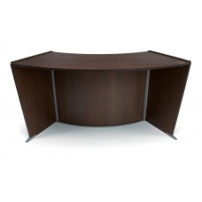 OFM Marque Series ADA / Wheelchair Accessible Curved Reception Station, Walnut
