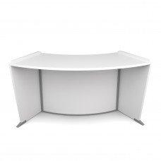 OFM Marque Series ADA / Wheelchair Accessible Curved Reception Station, White