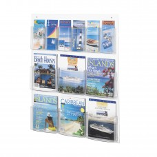 Clear2c™ 6 Magazine and 6 Pamphlet Display - Clear