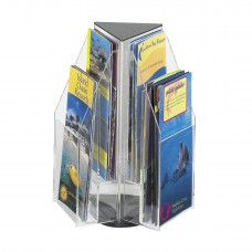 Reveal™ 6 Pamphlet Tabletop Displays - Clear