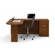 "Embassy 66"" L-shaped desk in Tuscany Brown"