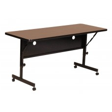 "Deluxe High Pressure Top Flip Top Table - 24x72"" - Medium Oak"