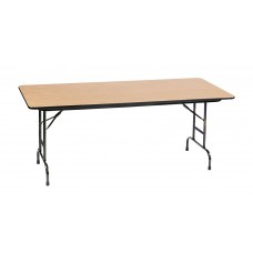 """Adjustable Height 3/4"""" High Pressure Top Folding Table - 30x60"""" - Fusion Maple"""