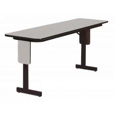 "3/4"" High Pressure Folding Seminar Table with Panel Leg - 18x60"" - Gray Granite"