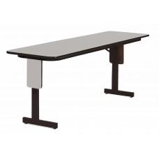 "3/4"" High Pressure Folding Seminar Table with Panel Leg - 24x96"" - Gray Granite"