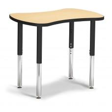 "Berries® Collaborative Bowtie Table - 24"" X 35"" - Maple/Black"