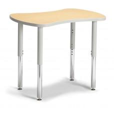 "Berries® Collaborative Bowtie Table - 24"" X 35"" - Maple/Gray"