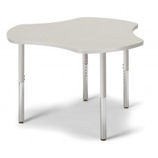 "Berries® Collaborative Hub Table - 44"" X 47"" - Gray/Gray"