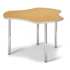 "Berries® Collaborative Hub Table - 44"" X 47"" - Oak/Gray"