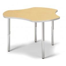 "Berries® Collaborative Hub Table - 44"" X 47"" - Maple/Gray"