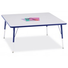 """Berries® Square Activity Table - 48"""" X 48"""", A-height - Gray/Blue/Blue"""