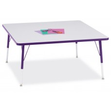 """Berries® Square Activity Table - 48"""" X 48"""", A-height - Gray/Purple/Purple"""