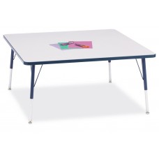 """Berries® Square Activity Table - 48"""" X 48"""", A-height - Gray/Navy/Navy"""