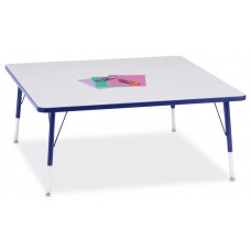 """Berries® Square Activity Table - 48"""" X 48"""", E-height - Gray/Blue/Blue"""