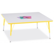 """Berries® Square Activity Table - 48"""" X 48"""", E-height - Gray/Yellow/Yellow"""