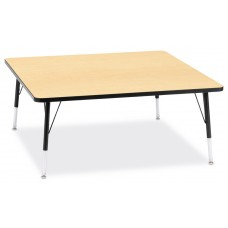 """Berries® Square Activity Table - 48"""" X 48"""", E-height - Maple/Black/Black"""