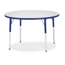 """Berries® Round Activity Table - 42"""" Diameter, A-height - Gray/Blue/Blue"""