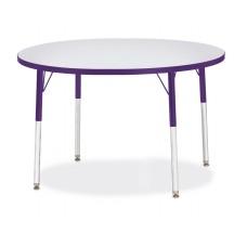 "Berries® Round Activity Table - 42"" Diameter, A-height - Gray/Purple/Purple"