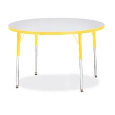 "Berries® Round Activity Table - 42"" Diameter, A-height - Gray/Yellow/Yellow"