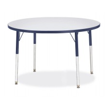 """Berries® Round Activity Table - 42"""" Diameter, A-height - Gray/Navy/Navy"""