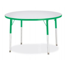 """Berries® Round Activity Table - 42"""" Diameter, A-height - Gray/Green/Green"""