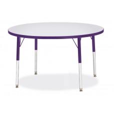 "Berries® Round Activity Table - 42"" Diameter, E-height - Gray/Purple/Purple"