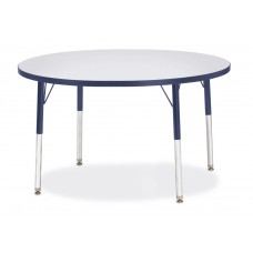 "Berries® Round Activity Table - 42"" Diameter, E-height - Gray/Navy/Navy"
