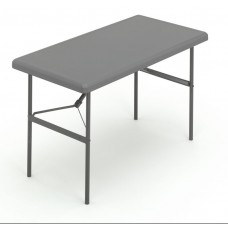 "IndestrucTable TOO Folding Table,1200 Series - Charcoal - 24"" x 48"""