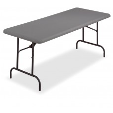 "IndestrucTable TOO Folding Table,1200 Series - Charcoal - 30"" x 60"""