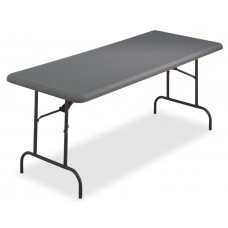 "IndestrucTable TOO Folding Table,1200 Series - Charcoal - 30"" x 72"""