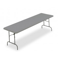 "IndestrucTable TOO Folding Table,1200 Series - Charcoal - 30"" x 96"""