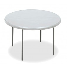 "IndestrucTable TOO Folding Table,1200 Series - Platinum - 48"" Round"