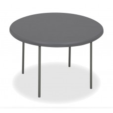 "IndestrucTable TOO Folding Table,1200 Series - Charcoal - 48"" Round"