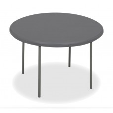 "IndestrucTable TOO Folding Table, 1200 Series, Charcoal, 60"" Round"