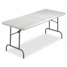 "IndestrucTable TOO Folding Table, 1200 Series, Platinum, 30"" x 96"" BiFold"
