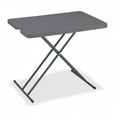 "IndestrucTable TOO Folding Table, 1200 Series, Charcoal, 30"" x 20"" Personal"