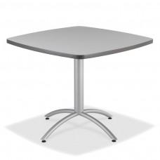 "CaféWorks Café Table 36"" Square, Gray"