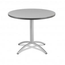 "CaféWorks Café Table 36"" Round, Gray"