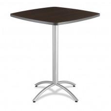 """CaféWorks Bistro Table 36"""" Square, Walnut"""
