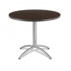 "CaféWorks Café Table 42"" Round, Walnut"
